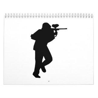 Jugador de Paintball Calendarios De Pared
