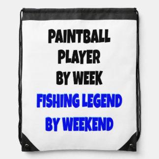 Jugador de Paintball de la leyenda de la pesca Mochila