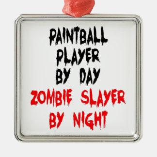 Jugador de Paintball del asesino del zombi Ornamento De Navidad