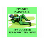jugador de Paintball Tarjetas Postales