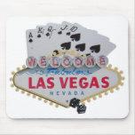 Jugador de póker de la escalera real de Las Vegas  Alfombrilla De Ratón