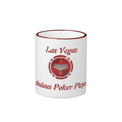 ¡Jugador de póker fabuloso de Las Vegas! Taza