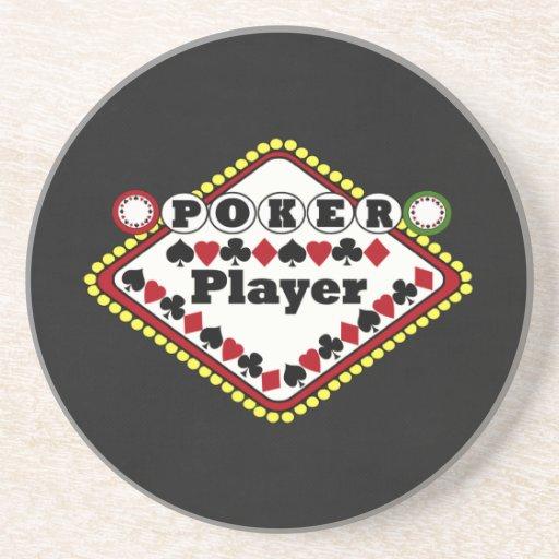 Jugador de póker posavasos manualidades