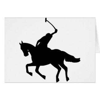 Jugador de polo a caballo. tarjeta de felicitación