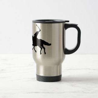 Jugador de polo a caballo. taza térmica