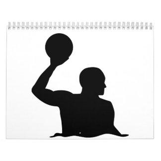 Jugador de polo del agua calendarios