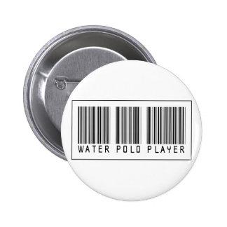 Jugador de polo del agua del código de barras pin