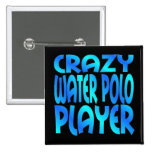 Jugador de polo loco del agua