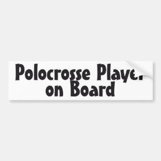 Jugador de Polocrosse a bordo Etiqueta De Parachoque