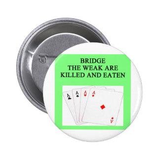 jugador de puente duplicado pin redondo 5 cm