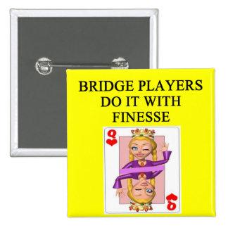 jugador de puente duplicado pin cuadrado