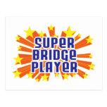 Jugador de puente estupendo postal
