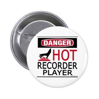 Jugador de registrador caliente pin redondo de 2 pulgadas