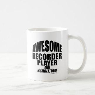 Jugador de registrador impresionante taza clásica