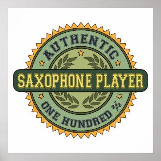 Jugador de saxofón auténtico póster