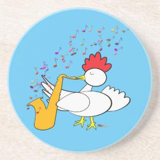 Jugador de saxofón chulo posavasos para bebidas