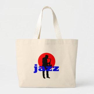 Jugador de saxofón del jazz bolsa de mano
