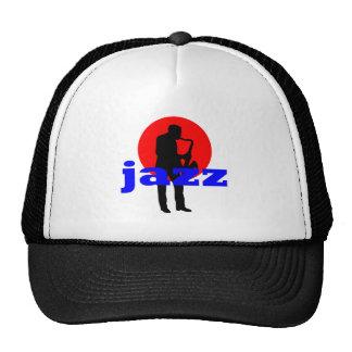 Jugador de saxofón del jazz gorro