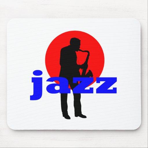 Jugador de saxofón del jazz mousepad
