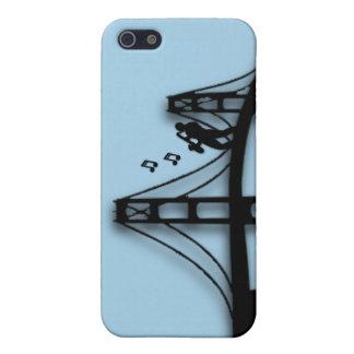 Jugador de saxofón en el caso del iPhone 5C del iPhone 5 Carcasas