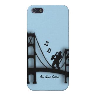 Jugador de saxofón en el caso del iPhone 5C del iPhone 5 Funda