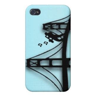 Jugador de saxofón en el puente 4s iPhone 4/4S fundas