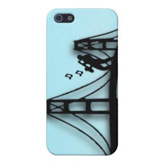 Jugador de saxofón en el puente 4s iPhone 5 carcasa