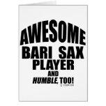 Jugador de saxofón impresionante de Bari Felicitación