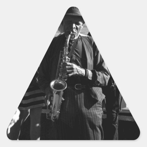 Jugador de saxofón colcomanias triangulo