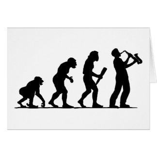 Jugador de saxofón tarjeta de felicitación