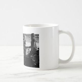 Jugador de saxofón tazas de café