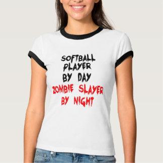 Jugador de softball del asesino del zombi camisas