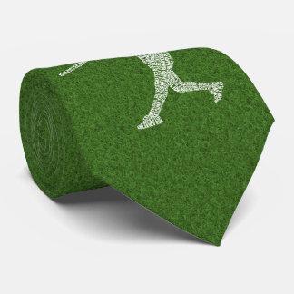 Jugador de softball del béisbol tipográfico corbatas