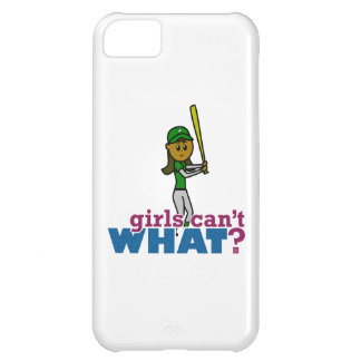 Jugador de softball del chica en verde carcasa para iPhone 5C