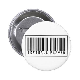 Jugador de softball del código de barras pins