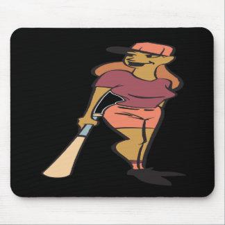 Jugador de softball mousepads