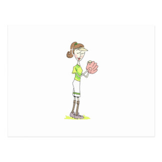 Jugador de softball postales