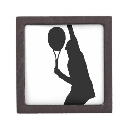 Jugador de tenis caja de joyas de calidad