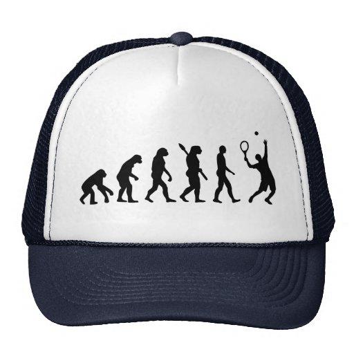 Jugador de tenis de la evolución gorro