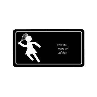 Jugador de tenis de la mujer - símbolo del tenis ( etiqueta de dirección