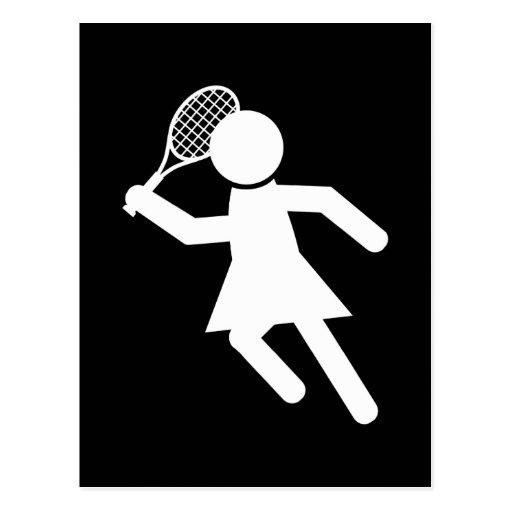 Jugador de tenis de la mujer - símbolo del tenis ( tarjetas postales