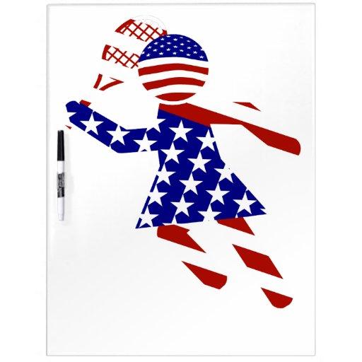 Jugador de tenis de los E.E.U.U. - el tenis de las Pizarras