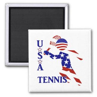 Jugador de tenis de los E E U U - el tenis de los Imán Para Frigorífico