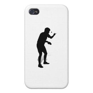 Jugador de tenis de mesa 2 iPhone 4 protectores