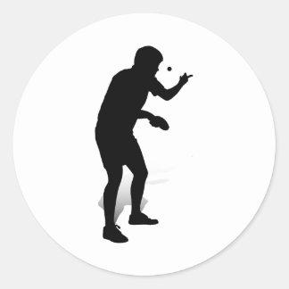 Jugador de tenis de mesa 2 pegatina redonda