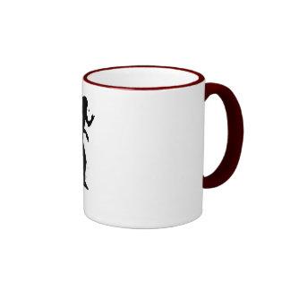 Jugador de tenis de mesa 2 taza de dos colores