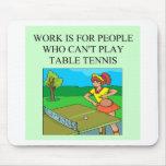jugador de tenis de mesa alfombrilla de ratones