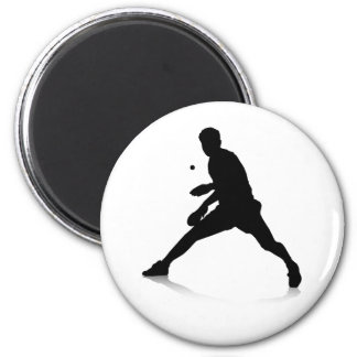 Jugador de tenis de mesa imán redondo 5 cm