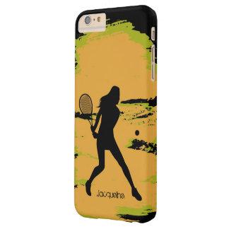 Jugador de tenis de sexo femenino funda de iPhone 6 plus barely there