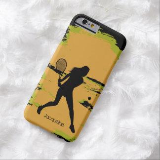 Jugador de tenis de sexo femenino funda de iPhone 6 barely there